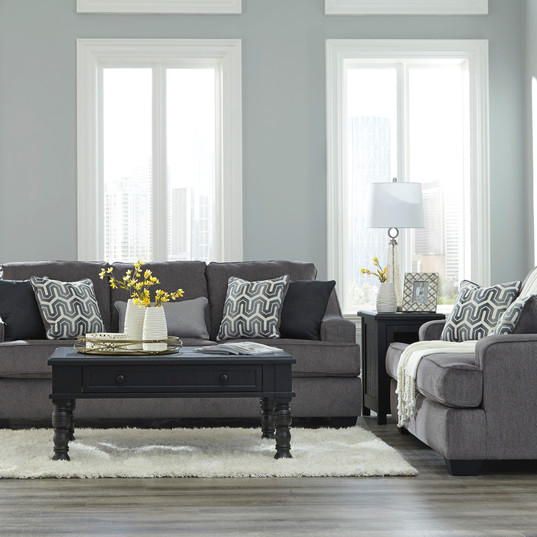 Gilmer Gunmetal Sofa Set Ashley Furnitur