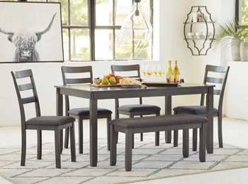 $419 Bridson 6 Piece Dining Set Ashley F