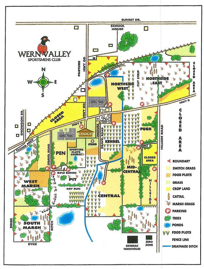 Wern Valley Hunt Field Map