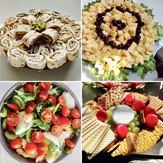 Laxrulle, ostbricka, sallader och mycket