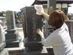 いつもの墓参りで行う簡易な墓そうじ