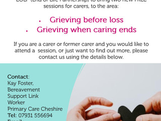 Upcoming sessions to support Carers