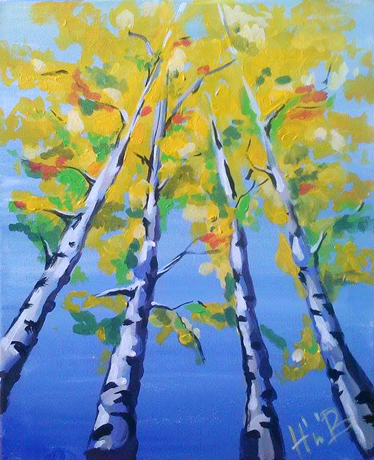 Sunny Birches by Hues'n'Booze