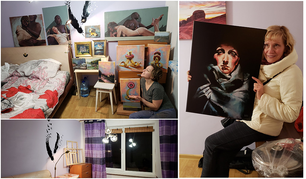Inna Rohr artist painting studio