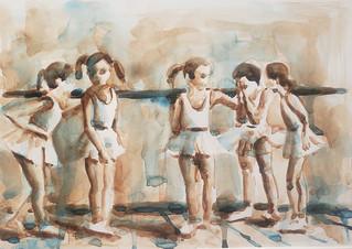 Rohr_Russian Ballet School c 1970 _#1 watercolor on paper _ $250.jpg