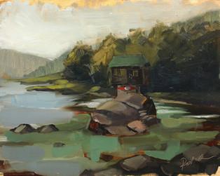 Drina river boat house