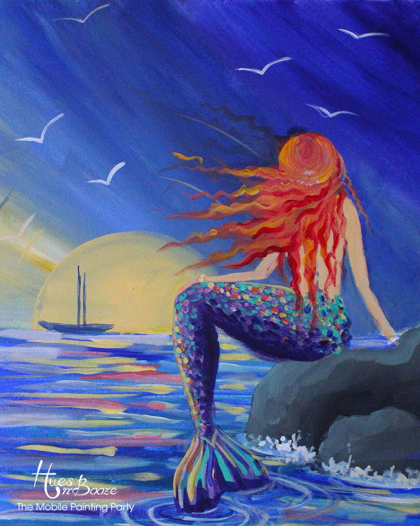 Sunrise Mermaid by Hues'n'Booze