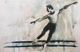 Rohr_Russian Ballet School c 1970 _#2 watercolor on paper _ $250.jpg