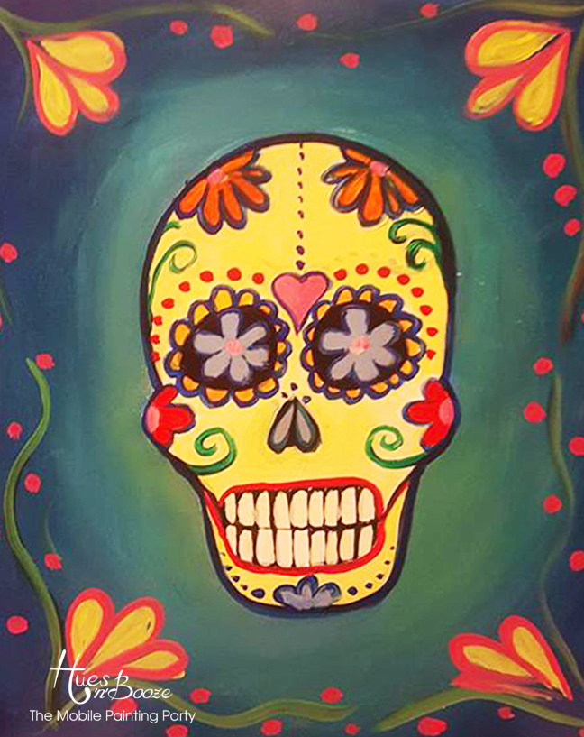 Sugar Skull By Hues'n'Booze