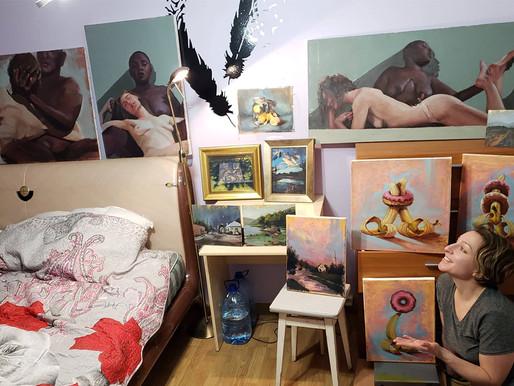 Art and Travel Musings. Estonian studio time.