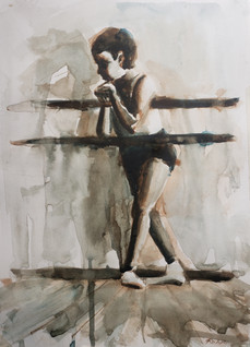 Rohr_Russian Ballet School c 1970 _#4 watercolor on paper _ $250.jpg