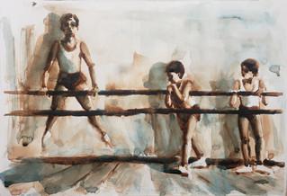 Rohr_Russian Ballet School c 1970 _#3 watercolor on paper _ $250.jpg