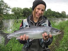 Woman wit Salmon
