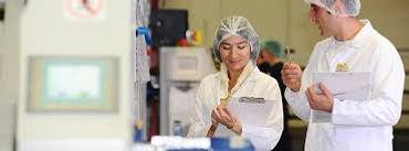 Auditors in  food factory preparing for BRC audit
