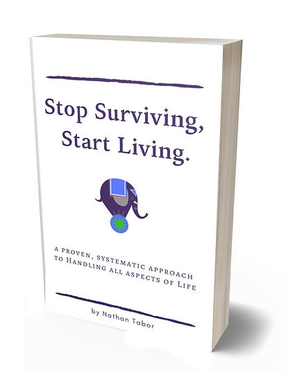 Stop Surviving, Start Living Book Cover.