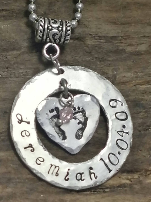 Birth Announcement Necklace