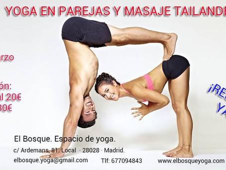 Yoga en parejas y masaje tailandes