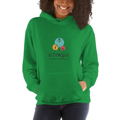 Sudadera con capucha unisex-Logo en letras Negras