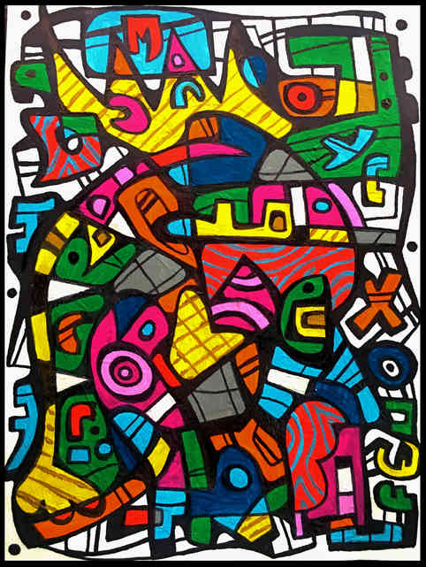 """* Select past work     HACK ROYALE  watercolor and ink on paper 12"""" x 8"""""""