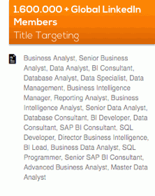 Global Linkedin members title targeting including business analyst, data analyst, data scientist, SAP consultant, data scientist