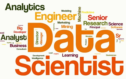 analytics data science word Cloud according to various companies