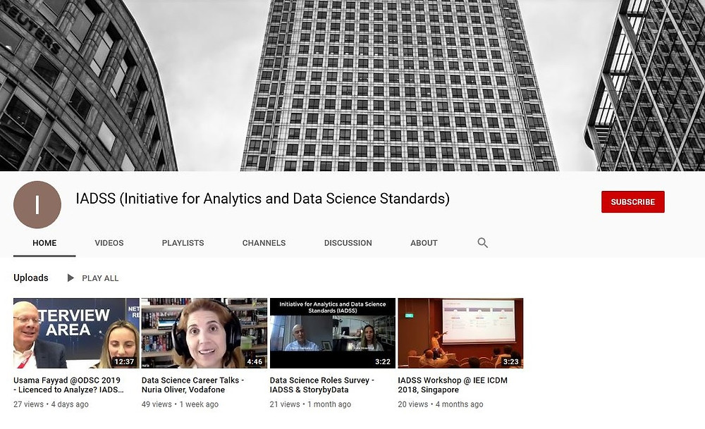 IADSS YouTube Channel - Latest updates, career talks
