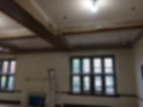 Church Friendship Room Exposed Wood Beam