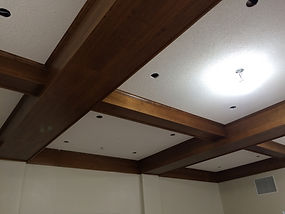 Church Friendship Room Exposed Wood Beam
