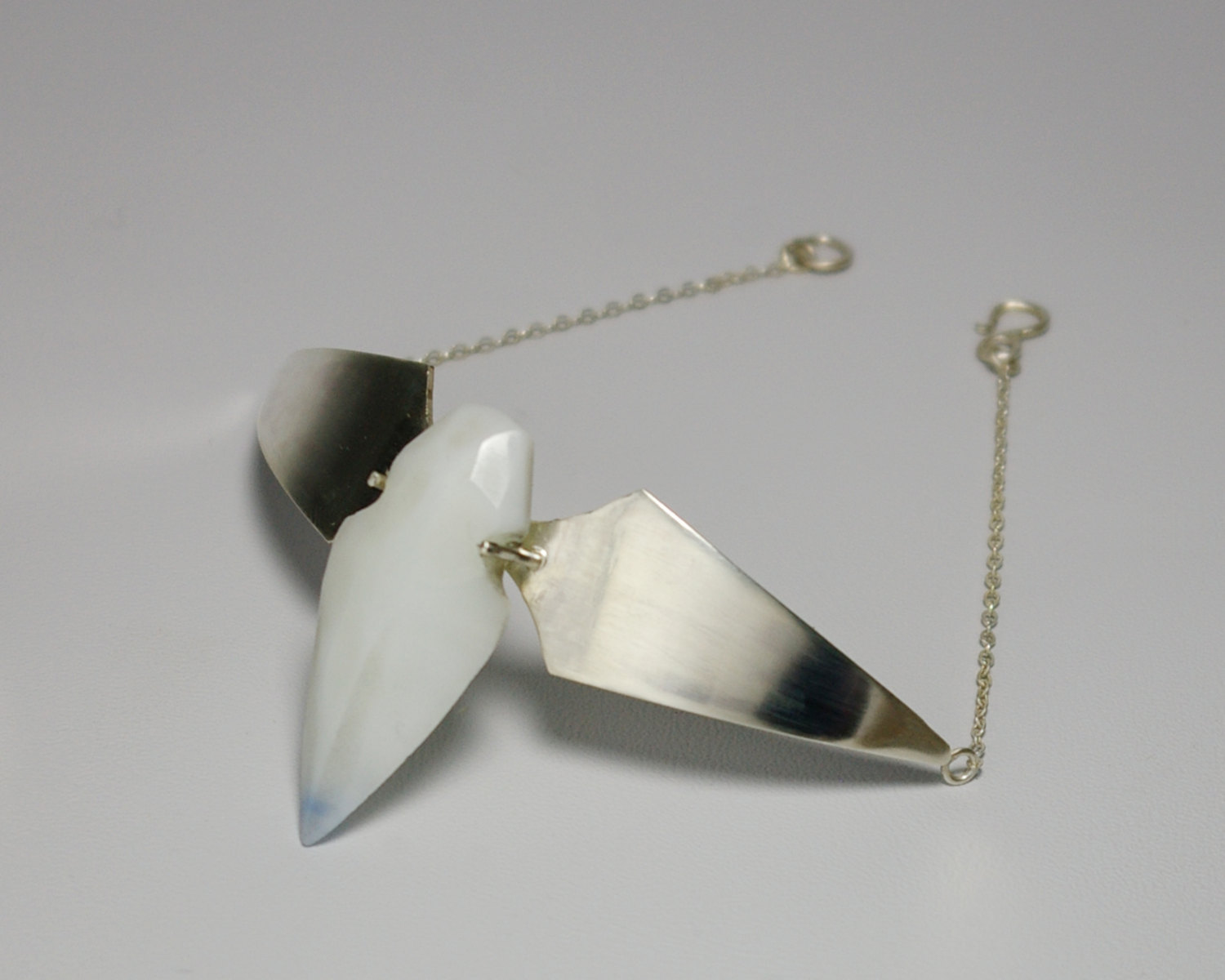 Glass, sterling silver | 2015