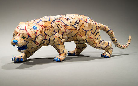 pencil shaving tiger sculpture ohio