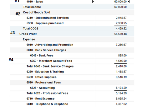 How to Read your Profit & Loss/Income Statement