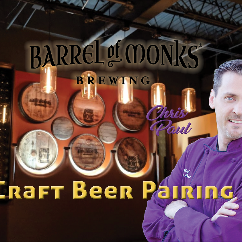 Chef Chris Paul at Barrel of Monks Brewery