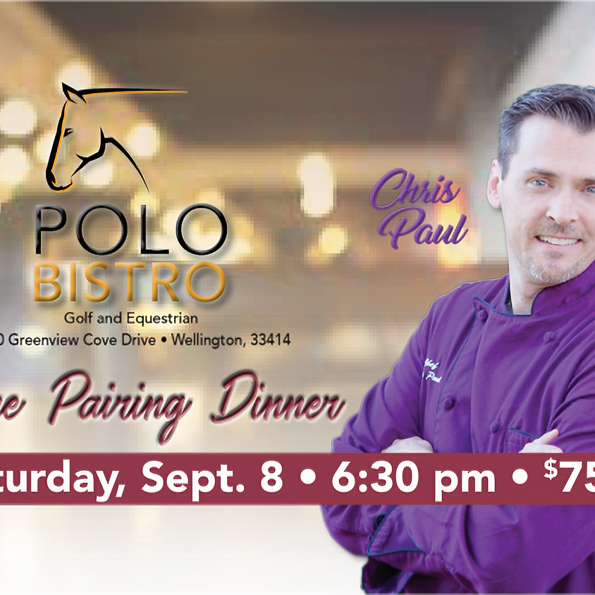Wine Pairing Event with Chef Chris Paul at Polo Bistro