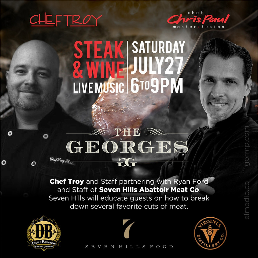 Master Fusion Chef Chris Paul Travels to Lexington, VA  to reunite with Chef Troy Sheller!