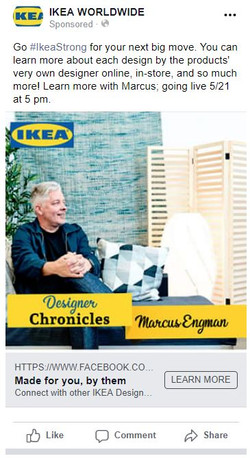 Facebook ad for Designer Chronicles Intr