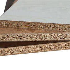 Solid wood particle board