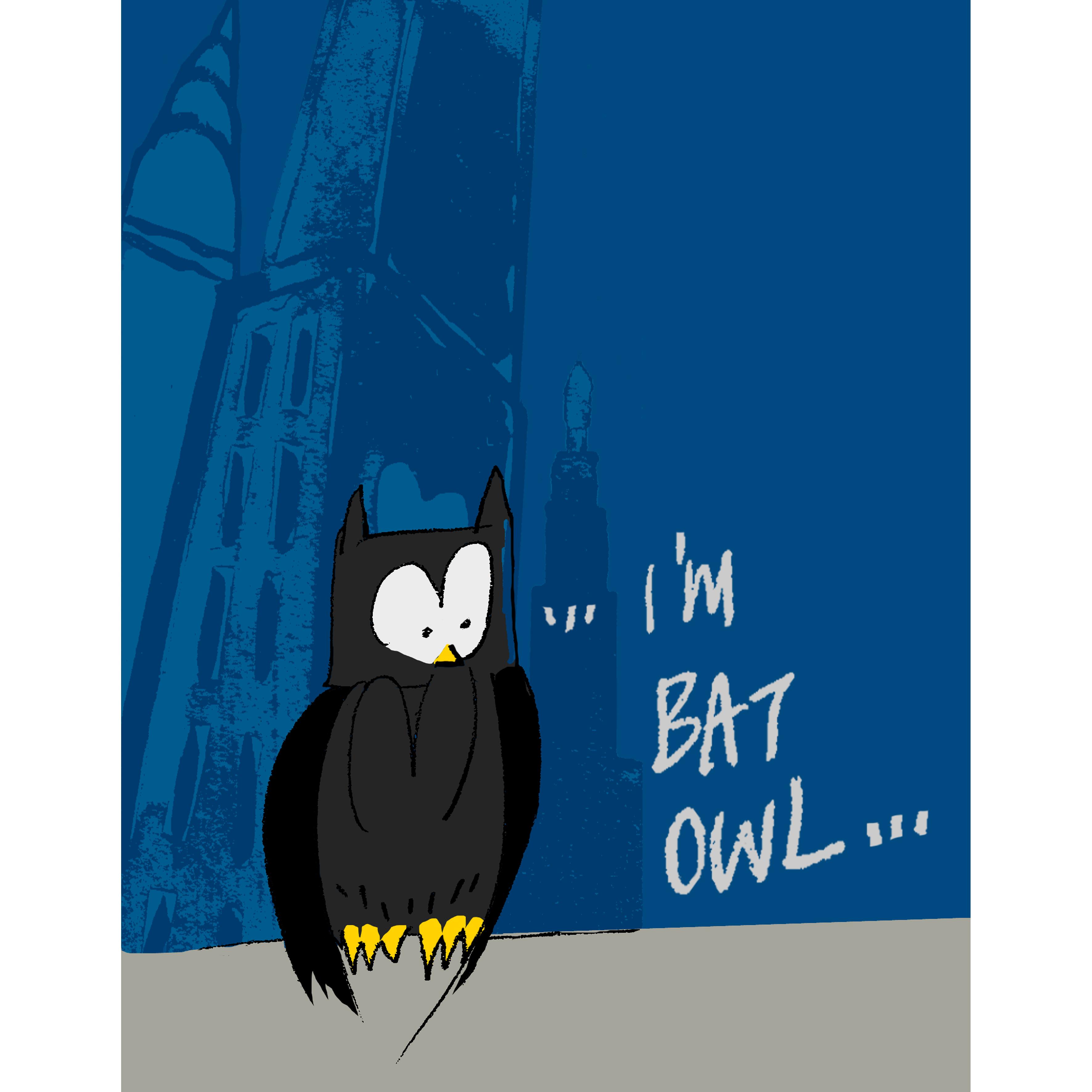 """i'm bat-owl"""