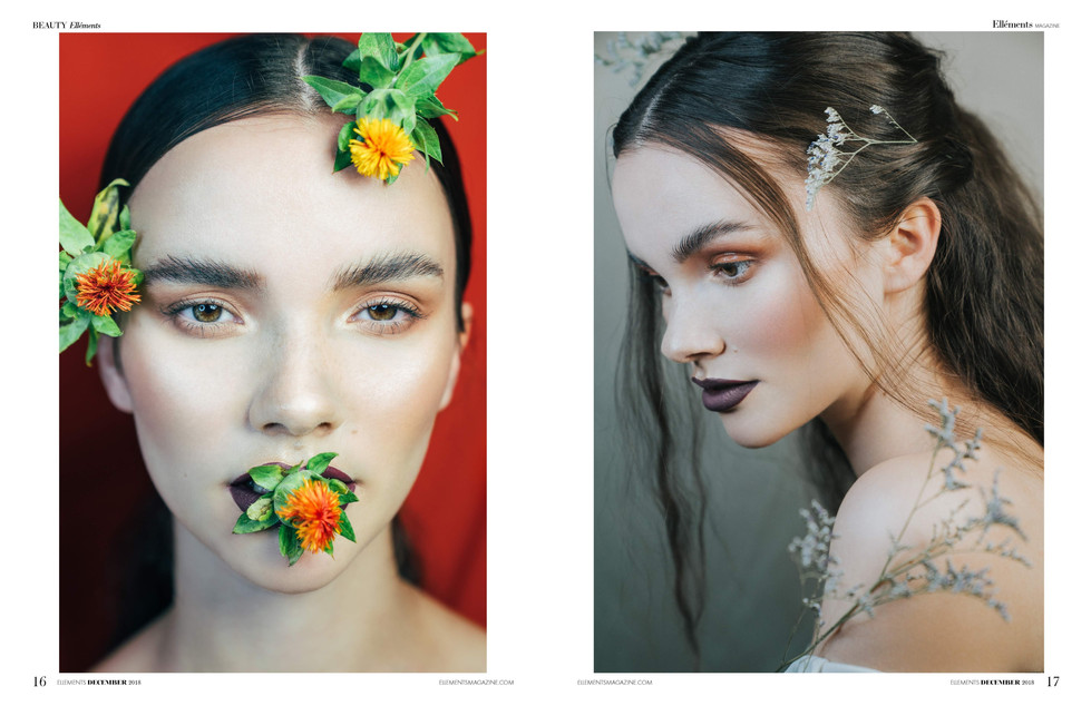 Makeup: Karla Cruz Model: Sharleen Photographer: Maryna Yazbeck Published in Ellements Magazine