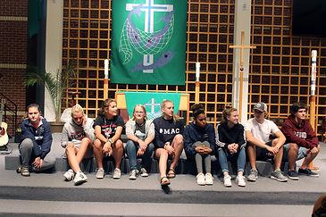 Marys pics row of kids in sanctuary.JPG