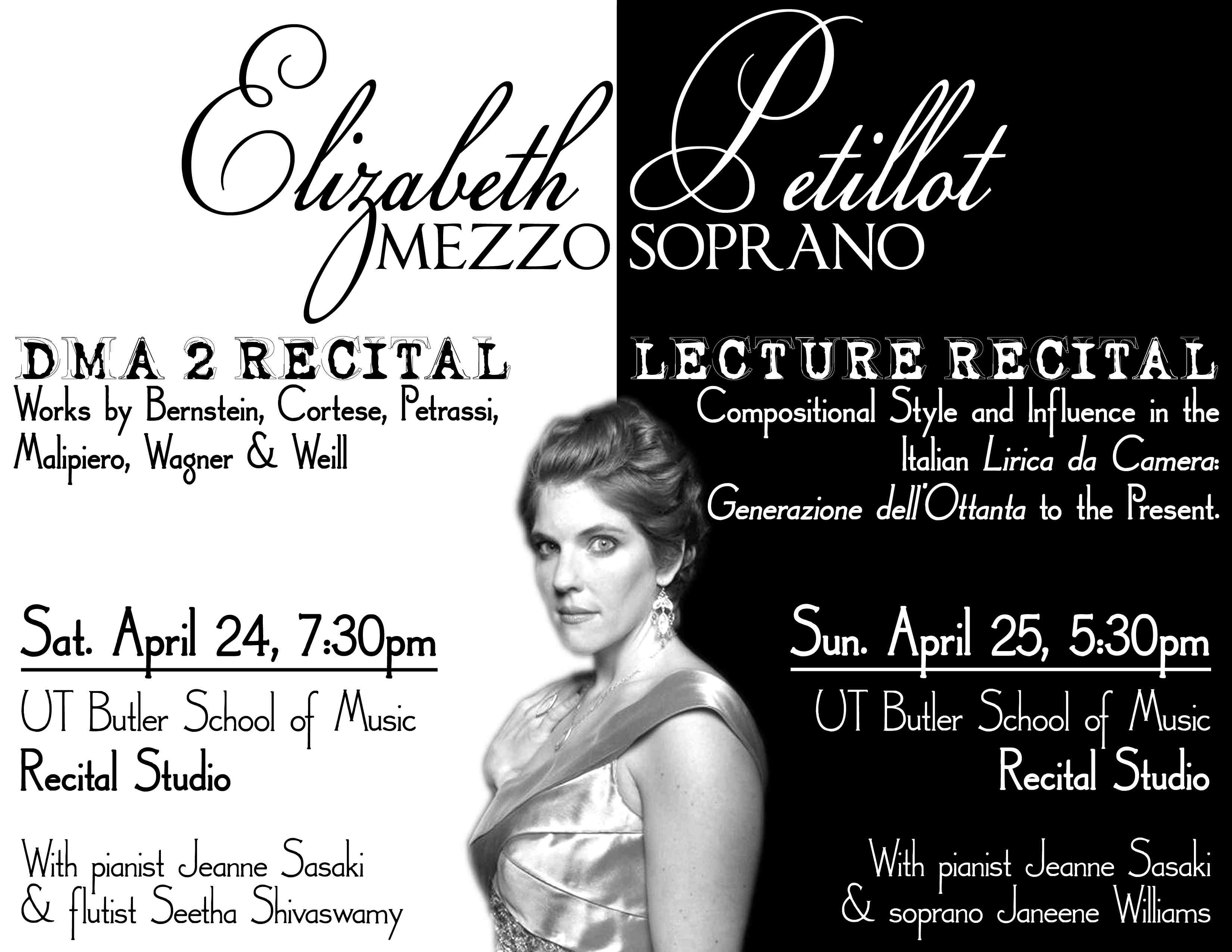 Double recital Poster