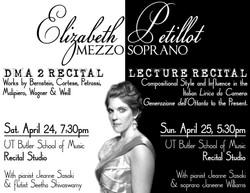 Double recital Poster