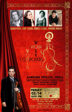 Women Composers Concert. Poster