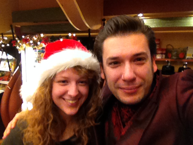 Xmas selfie with Laura at UWEC