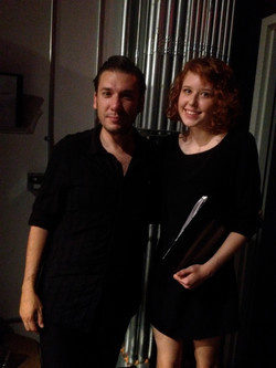 With a chamber music student