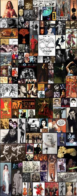 Viola case collage