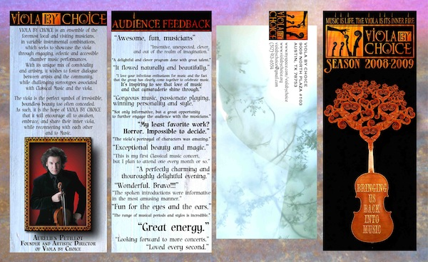 Viola By Choice brochure. Out