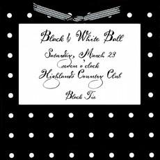 Black & White Square Invite