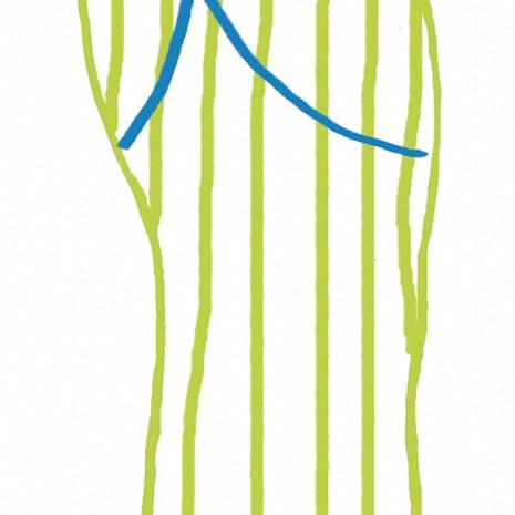 Large Green Flip Flop