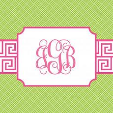 Lime Green & Hot Pink Monogram