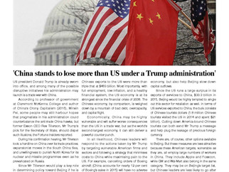 China stands to lose more than US under a Trump administration